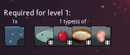Level 1 upgrade requirements.